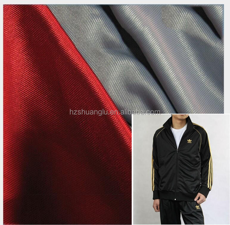 polyester tricot warp knitted fabric/track suits super poly