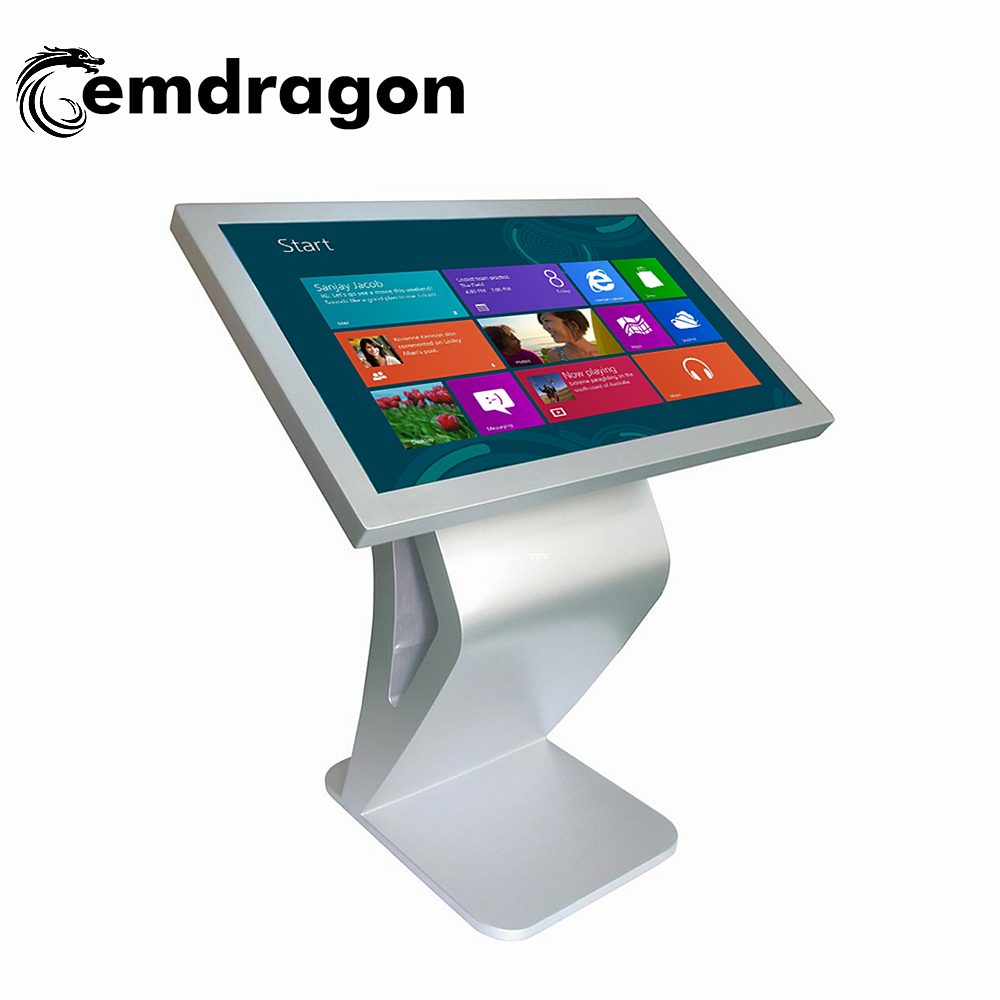 Customized professional standing brochure holder interactive kiosk/digital signage allinonetouchscreenpc advertising board