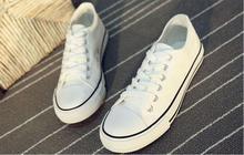 Top selling FREE SAMPLE factory price white canvas shoes wholesale