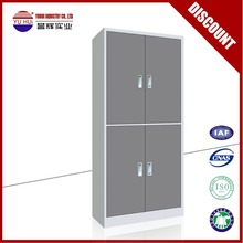 luoyang factory produce cheap 2 tiers double door metal file cabinet