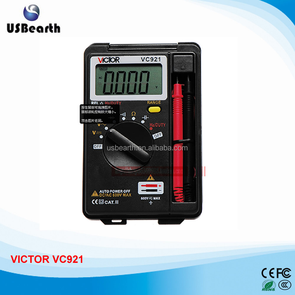 VICTOR VC921 DMM Integrated Personal Handheld Pocket Mini Digital Multimeter