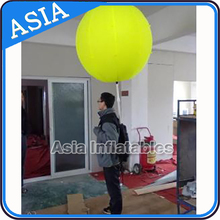 Inflatable backpack balloon / walking ball with led lighting