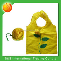 Eco-Friendly strong&durable flower shape grocery nylon foldable shopping bag