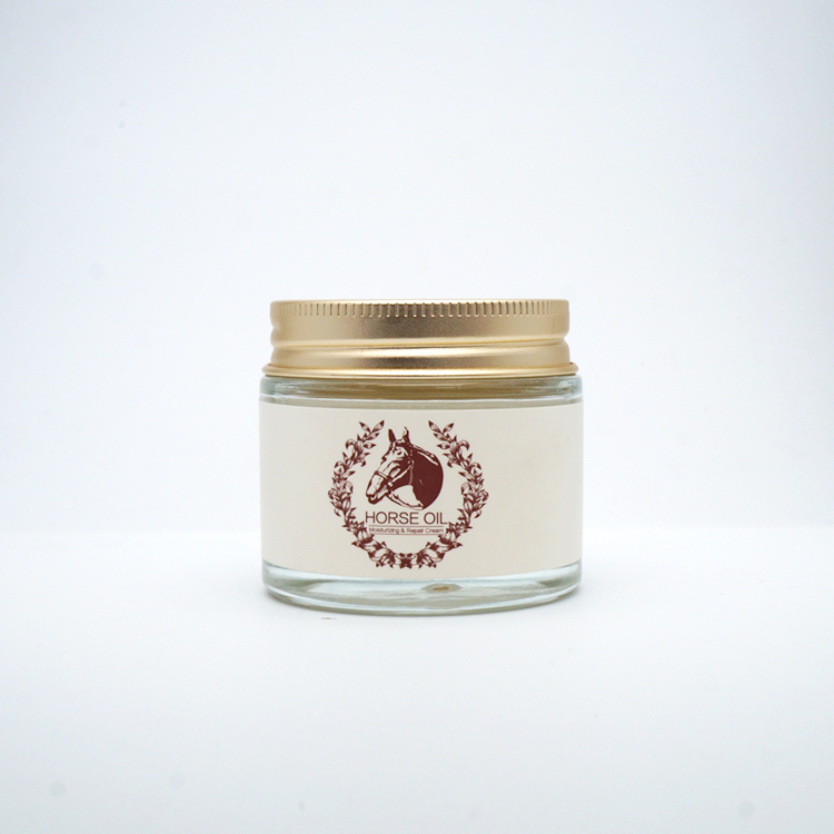 70g Cream Jar Glass Jar with gold cap candy jar (price without sticker)Horse oil bottle