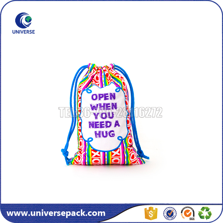 Cotton dust bag with drawstring for shoes