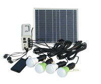 12 volt led solar energy lighting system for home lighting and phone charger