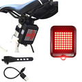 USB Rechargeable Bike Light Red or White LED glow or Flash all in one Torch Flashlight Super Bright Taillight or Headlight