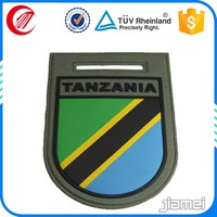 Custom 3d embossed Tanzania military rubber patch