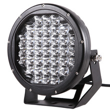 9 inch Round Black Red Led Work Light 185w Led Driving Light for off road