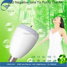 Anion Lamp UV Sterilizer Led Light Bulb Air Purifiers & Cleaners for Home! anion LED bluetooth speaker