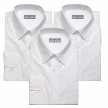 man's white polyester/cotton long sleeve business shirt