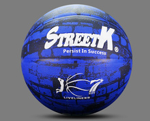 Superior quality custom blue camouflage foam rubber basketball ball