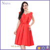 Wholesale Sleeveless Classical Red Party Dresses For Women