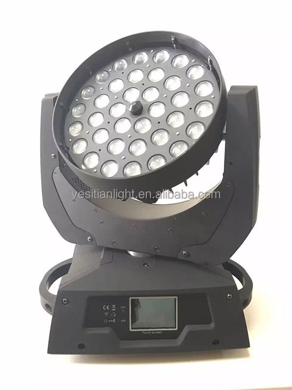 disco dj stage lighting RGBW 4IN1 36pcs zoom wash led,10w led moving head wash rgbw