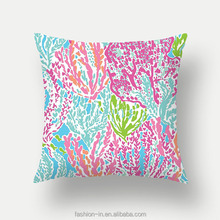 Hot selling eco-friendly coral fancy sequin pillow covers waterproof fabric outdoor cushion cover with high quality