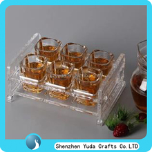 clear customized hot sale durable tabletop acrylic wine holder cup holder stand