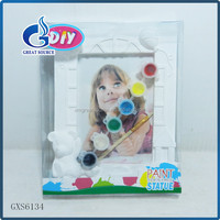 hotsale kids diy Unpainted photo frame diy ceramic paint kits