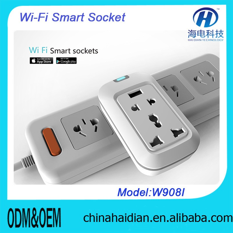 New Power Control Tech Plug&Socket Home Automation Control via Smartphone Wifi/ 2G/ 3G/ Network Smart Wifi Socket