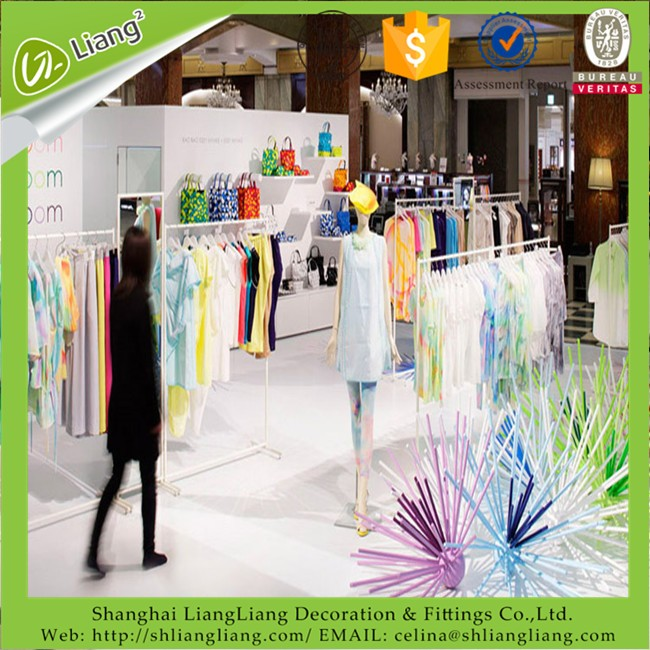 made in China hot sale garment/clothes store sanitary shop display