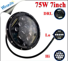Factory supply Used cars for sale cheap 75w 7 inch round led headlight 10 30v for Jeep light