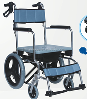 Commode & shower wheel chair