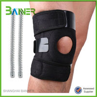 Stylish fashion adjustable spring neoprene knee support with open patella