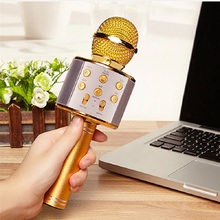 Hot sales 858 wireless microphone detective wireless mini microphone for karaoke