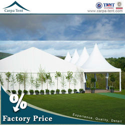 white 15x25m aluminum pvc white garden outdoor party marquee with decorated lingnings