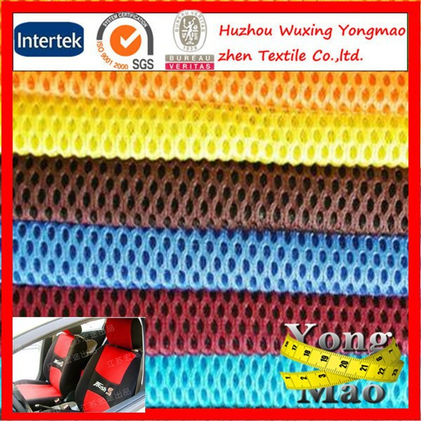 Huzhou supply 100 polyester top quality sandwich mesh