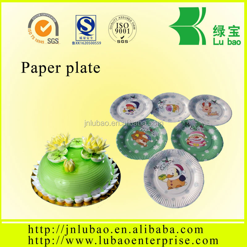 7,8,9inches paper dish logo printing,custom paper plates with pictures