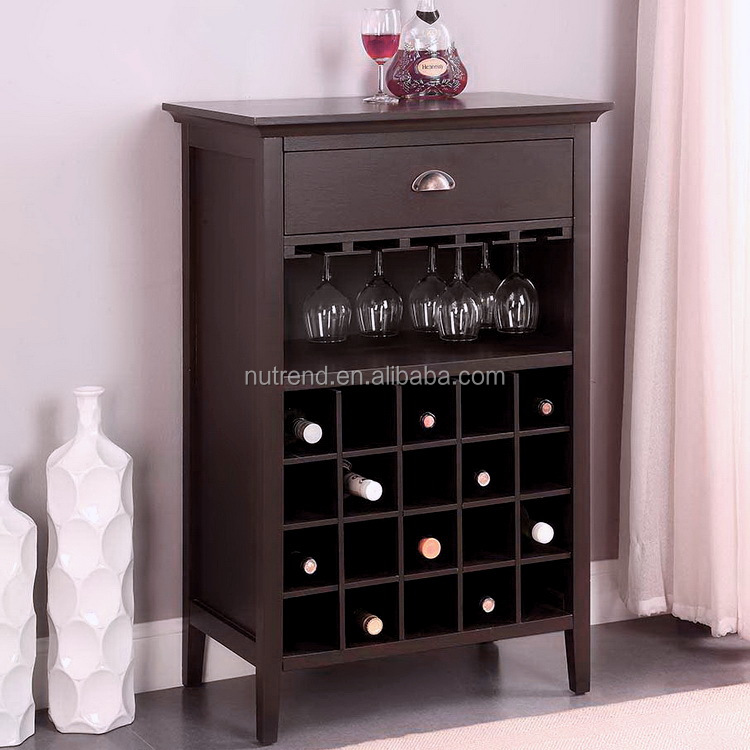 Modern durable wine storage racks insert under wood <strong>cabinet</strong>