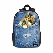 ONE2 design cat kids quilted picnic cartoon kids <strong>backpack</strong> for school
