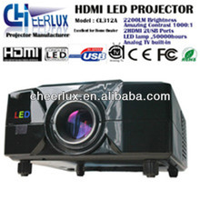 Promotion 2200Lumens Full HD Video LED Projector Native800*600 LED Proyector Beamer with USB HDMI TV Tuner for home theater