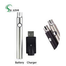 2018 best selling products 510 thread button cbd oil vape pen preheat battery