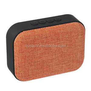 Smart bluetooth mini speaker with fabric material