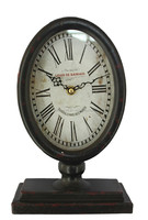 retro vintage wrought iron stand small desk clocks
