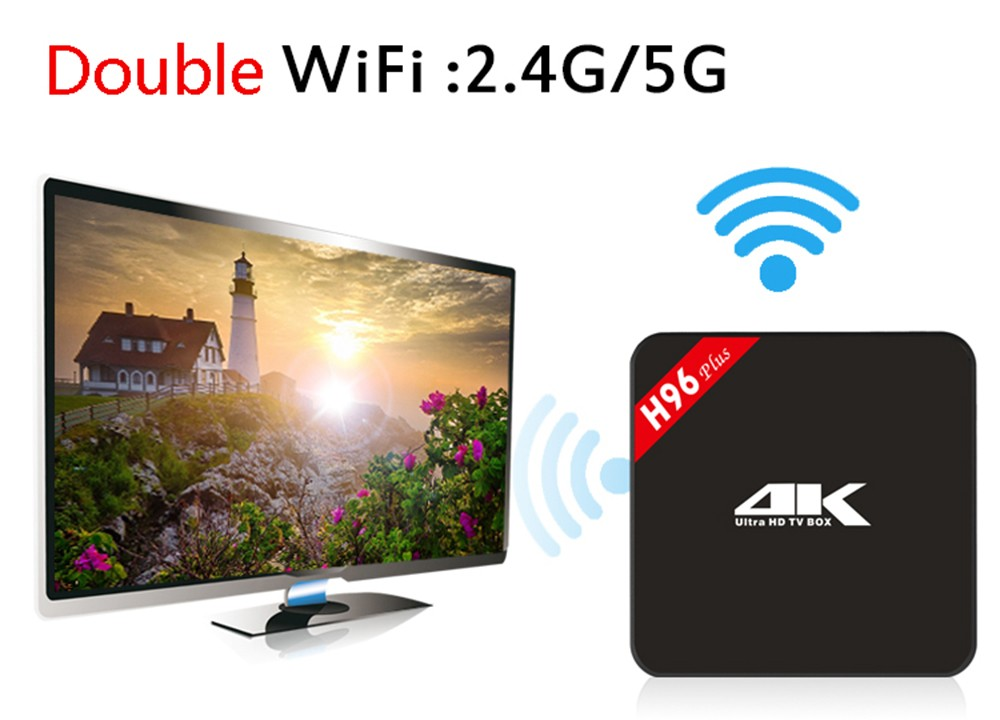 H96 plus smart Android TV Box dual band WIFI media player 16GB + Europe IPTV code TV program Italy Spain Italy french IP TV APK