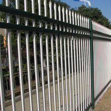 Decorative White PVC/Powder Coated Metal Yard Guard Fence / PVC White Steel Picket Fence