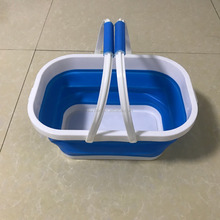 Two handles hand carry foldable bucket