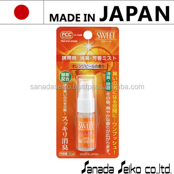 Portable Air freshener 10ml (Orange)| Sanada Seiko Chemical High Quality made in japan | spray air freshener