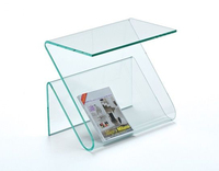 Acrylic Coffee Table with Magazine Rack Plexiglass End Table with Magazine Holder