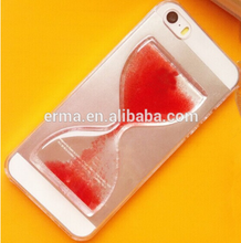 New Product Ultra Fashion Crystal Hard Clear Plastic Sandglass Transparent Mobile Phone Case for iphone 4 4s
