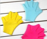 high quality hot selling summer silicone swimming gloves
