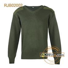 Olive Green Akwing Classic Military Army Sweater Wool/Acrylic Pullover RJS02002