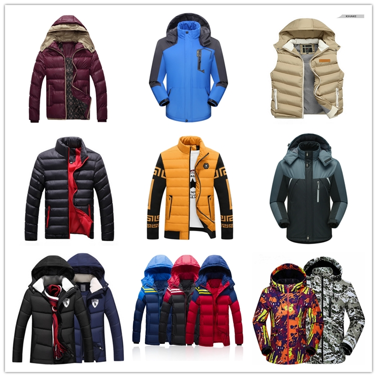 Autumn new men 's hooded cotton thickening large size warm cotton clothes