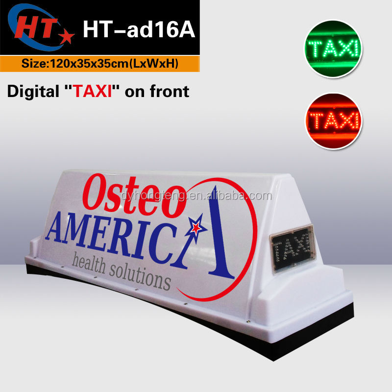 White plastic cover car roof top advertising