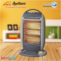 APG 220V halogen heater with safety tip-over switch