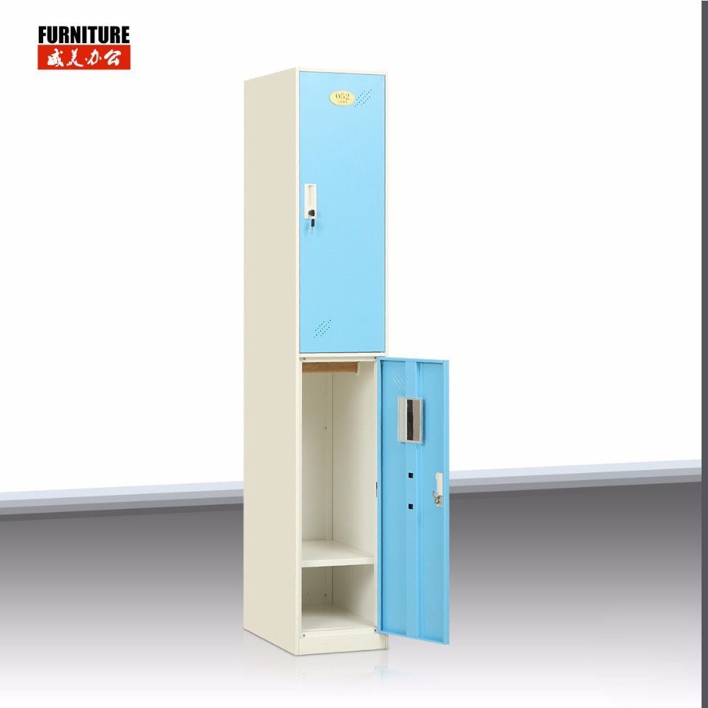 2 Tier Cloth Metal Locker storage Bedroom Furniture Steel Locker