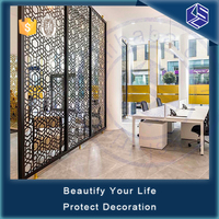 Moderate price hotel laser cut room divider screen