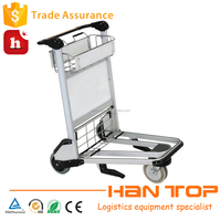 Handle brake 3 wheels durable airport luggage trolley HAN-AT05 1619